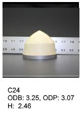 Cone shaped silicone print pad from AccuPad Inc.