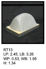 RT 13, roof top shaped silicone print pad from AccuPad Inc.