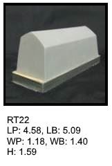 RT 22, roof top shaped silicone print pad from AccuPad Inc.