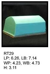 RT 29, roof top shaped silicone print pad from AccuPad Inc.