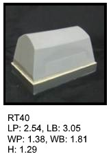RT 40, roof top shaped silicone print pad from AccuPad Inc.