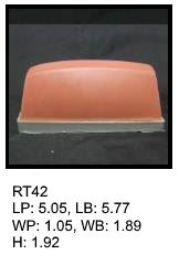 RT 42, roof top shaped silicone print pad from AccuPad Inc.