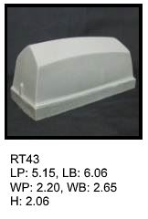 RT 43, roof top shaped silicone print pad from AccuPad Inc.