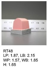 RT 48, roof top shaped silicone print pad from AccuPad Inc.