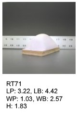 RT 71, roof top shaped silicone print pad from AccuPad Inc.