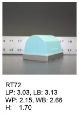 RT 72, roof top shaped silicone print pad from AccuPad Inc.