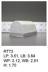RT 73, roof top shaped silicone print pad from AccuPad Inc.