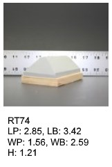 RT 74, roof top shaped silicone print pad from AccuPad Inc.