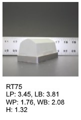 RT 75, roof top shaped silicone print pad from AccuPad Inc.