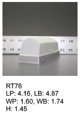 RT 76, roof top shaped silicone print pad from AccuPad Inc.