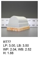RT 77, roof top shaped silicone print pad from AccuPad Inc.