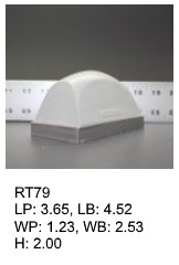 RT 79, roof top shaped silicone print pad from AccuPad Inc.