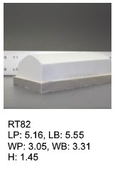 RT 82, roof top shaped silicone print pad from AccuPad Inc.