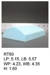 RT 89, roof top shaped silicone print pad from AccuPad Inc.