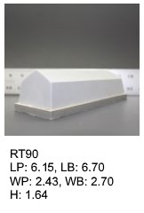 RT 90, roof top shaped silicone print pad from AccuPad Inc.
