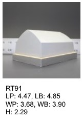 RT 91, roof top shaped silicone print pad from AccuPad Inc.