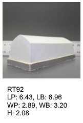 RT 92, roof top shaped silicone print pad from AccuPad Inc.
