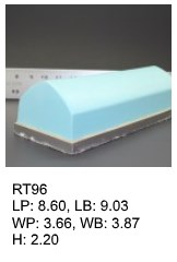 RT 96, roof top shaped silicone print pad from AccuPad Inc.