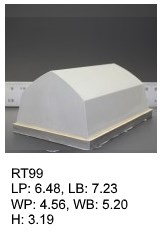 RT 99, roof top shaped silicone print pad from AccuPad Inc.