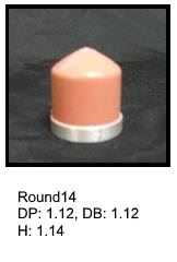 Round14, round silicone print pad from AccuPad Inc.