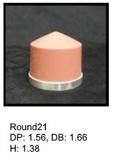 Round21, round silicone print pad from AccuPad Inc.