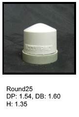 Round25, round silicone print pad from AccuPad Inc.