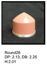 Round26, round silicone print pad from AccuPad Inc.