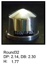 Round32, round silicone print pad from AccuPad Inc.