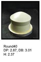 Round40, round silicone print pad from AccuPad Inc.