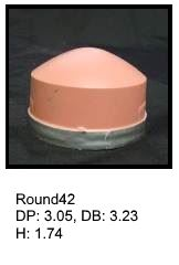 Round42, round silicone print pad from AccuPad Inc.
