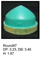 Round47, round silicone print pad from AccuPad Inc.