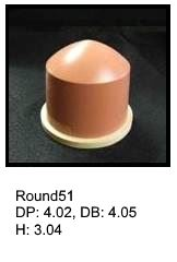 Round51, round silicone print pad from AccuPad Inc.