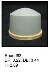 Round52, round silicone print pad from AccuPad Inc.