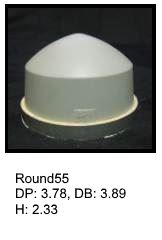 Round55, round silicone print pad from AccuPad Inc.
