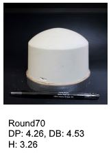 Round70, round silicone print pad from AccuPad Inc.