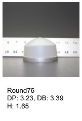 Round76, round silicone print pad from AccuPad Inc.