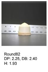 Round82, round silicone print pad from AccuPad Inc.