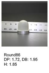 Round86, round silicone print pad from AccuPad Inc.