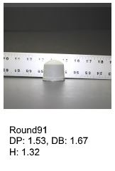 Round91, round silicone print pad from AccuPad Inc.