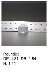 Round93, round silicone print pad from AccuPad Inc.
