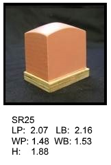 SR 25, Square or rectagular silicone print pad