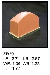SR 29, Square or rectagular silicone print pad
