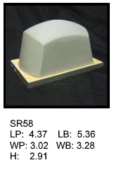 SR 58, Square or rectagular silicone print pad