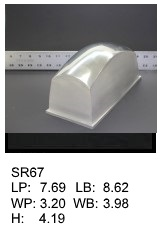 SR 67, Square or rectagular silicone print pad
