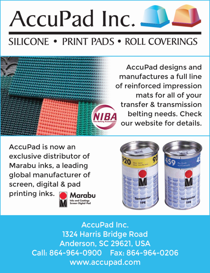 Our ad in the Plastics Decorating magazine